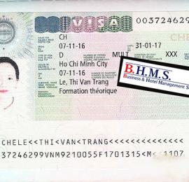 Visa du học Thụy Sĩ của Lê Thị Thu Trang.