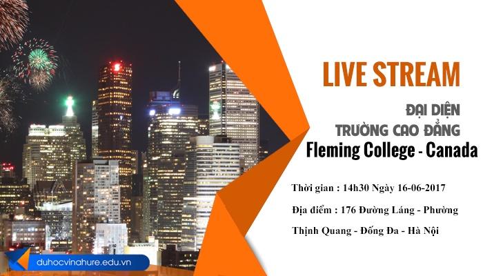 livestream cùng đại diện trường Fleming College