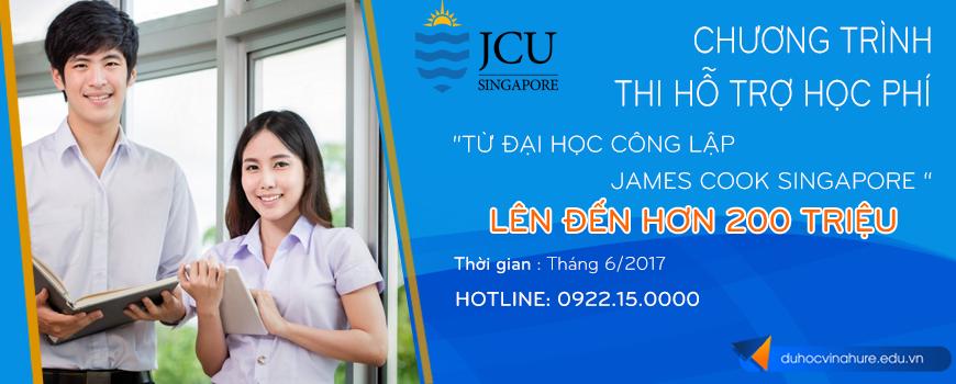 thi hỗ trợ học phí đại học công lập james cook singapore 2017