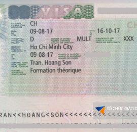 Visa du học Thụy Sĩ - Trần Hoàng Sơn