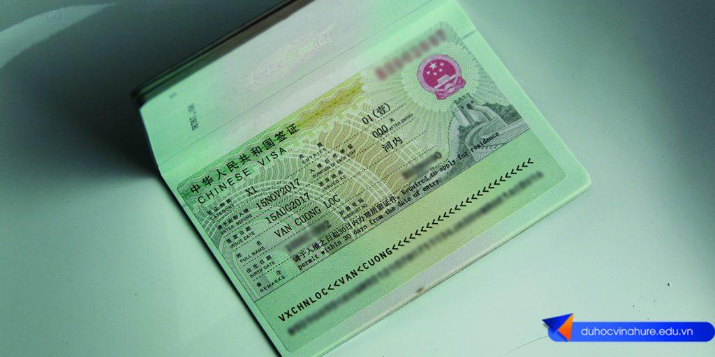 Visa du học Trung Quốc - Bạn Lộc Văn Cường