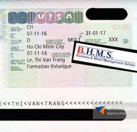 Visa du học Thụy Sĩ BHMS Vân Trang