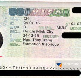 Visa du học Thụy Sĩ Thùy Trang