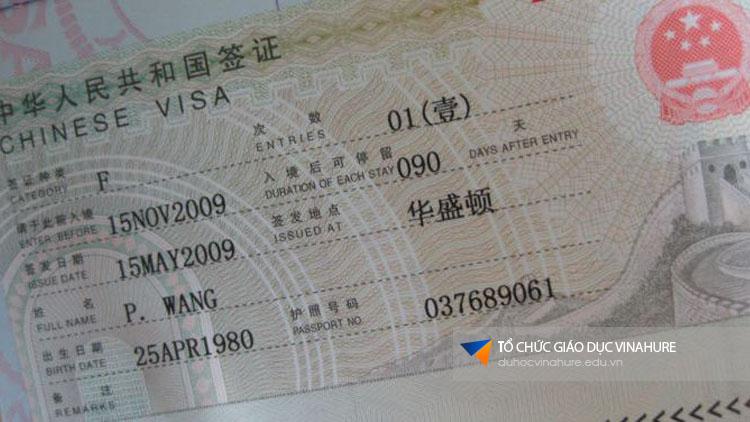 Visa du học Trung Quốc tháng 08/2017 - đợt 1