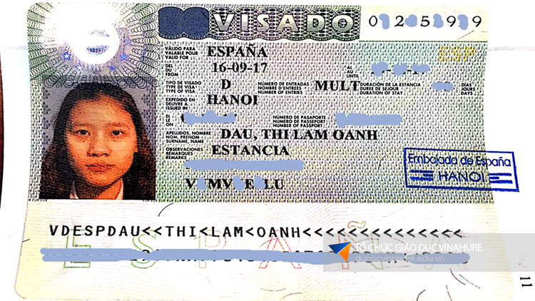 Visa du học Tây Ban Nha - Đậu Thị Lâm Oanh
