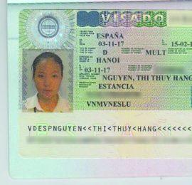 Visa du học Tây Ban Nha - Nguyễn Thị Thúy Hằng