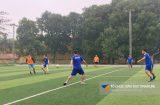 Đấu bóng đá giữa Vinahure và đối tác tại tỉnh Thái Nguyên.