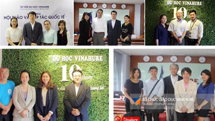 Trực tiếp các trường Nhật ngữ danh tiếng về thăm và phỏng vấn học sinh tại văn phòng Công ty